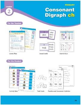 "Center 02: Consonant Digraph ""ch"" (Phonics Intervention Centers)"