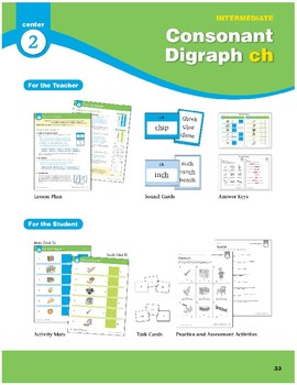 "Center 02: Consonant Digraph ""ch"" (Phonics Intervention Centers)"