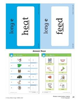 "Center 02: Long ""e"" Digraphs: ea/ee (Phonics Intervention Centers)"