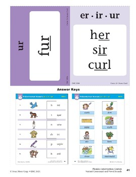 "Center 02: R-Controlled Vowels ""er,"" ""ir,"" ""ur"" (Phonics Intervention Centers)"