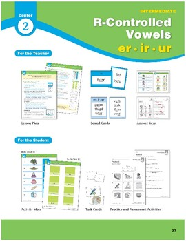 Center 02: R-Controlled Vowels: er/ir/ur (Phonics Intervention Centers)