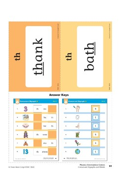 "Center 03: Consonant Digraph ""th"" (Phonics Intervention Centers)"