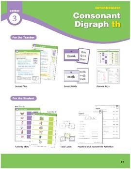 "Center 03: Consonant Digraph ""th"" (Phonics Intervention Centers)"