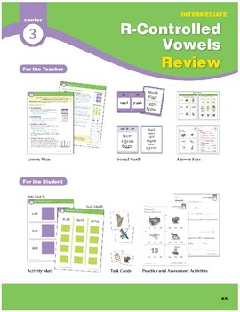 Center 03: R-Controlled Vowels Review (Phonics Intervention Centers)