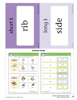 "Center 03: Short and Long ""i"" (Phonics Intervention Centers)"