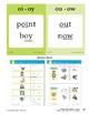 Center 04: Diphthongs for oi/oy and ou/ow (Phonics Intervention Centers)