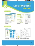 """Center 04: Long """"o"""" Digraphs oa/ow (Phonics Intervention Centers)"""