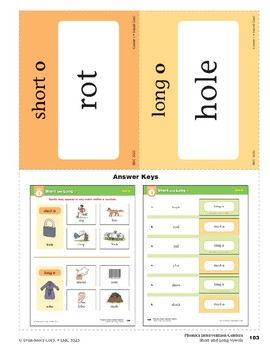 "Center 04: Short and Long ""o"" (Phonics Intervention Centers)"