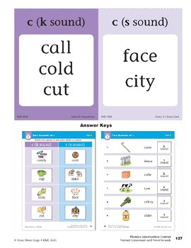 "Center 05: Two Sounds of ""c"" (Phonics Intervention Centers)"