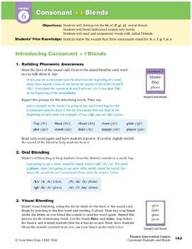 "Center 06: Consonant + ""l"" Blends (Phonics Intervention Centers)"