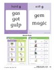 "Center 06: Two Sounds of ""g"" (Phonics Intervention Centers)"