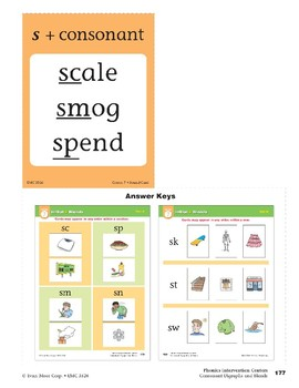 "Center 07: Initial ""s"" Blends (Phonics Intervention Centers)"