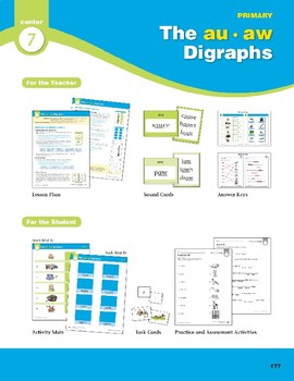 Center 07: The au/aw Digraphs (Phonics Intervention Centers)