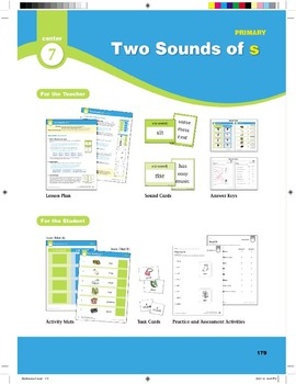 "Center 07: Two Sounds of ""s"" (Phonics Intervention Centers)"