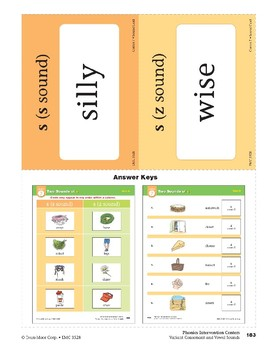"""Center 07: Two Sounds of """"s"""" (Phonics Intervention Centers)"""
