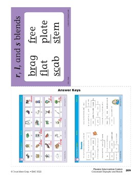 Center 08: Consonant Blends Review (Phonics Intervention Centers)