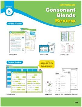 Center 08: Consonant Blends Review (Phonics Intervention Centers)