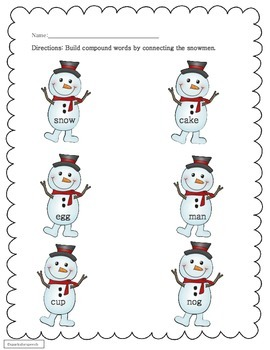 Center Activities and Worksheets for Compound Word Work