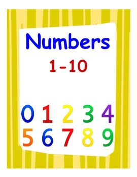 Center Activities for Numbers 1-10