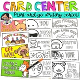 Center Activity | Card Writing Station (60+ Designs Included!)