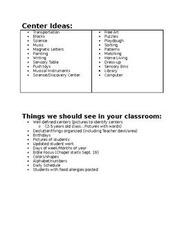 Center Activity Ideas