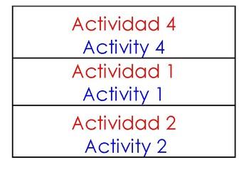 Center Activity Labels