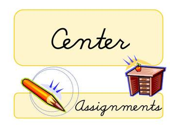 Center Assignments Sign - Stations