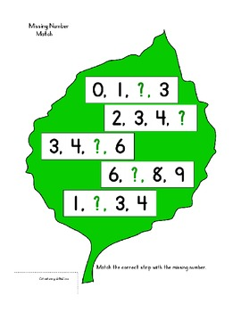 Center Bag Printables - Math and Literacy Combined- Lots of Leaves - PreK Kinder