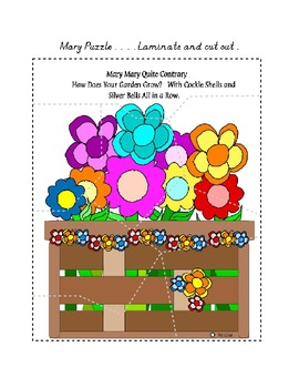 Center Bag Printables - Math and Literacy Combined - Mary Mary Quite Contrary