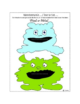 Center Bag Printables - Math and Literacy Combined - Monstermania - Cute Theme
