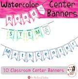 Center Banners Watercolor Decor