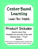 Center-Based Learning - Lesson Plan Template