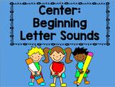 Center: Beginning Letter Sounds