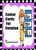 Center Card Rotations
