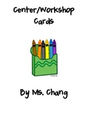 Center Cards for Primary Grades