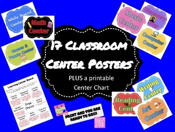 Elementary - Center Posters and Center Chart