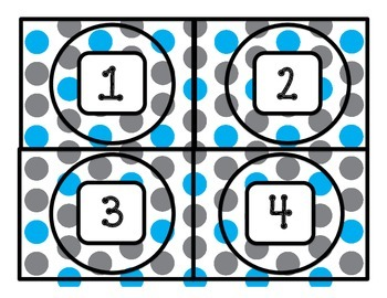 Center Chart Cards for Math or Reading Workshop
