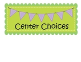 Center Chart Icons