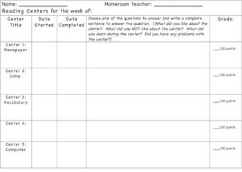 Center Check Sheet - Language