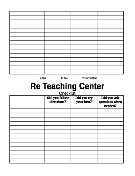 Center Checklists for Students