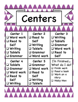 Center Checksheet