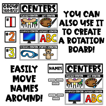 Center Signs with Pictures (Editable Center Signs for Preschool and Up)
