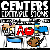 Center Signs with Pictures (Editable Center Signs for Pres