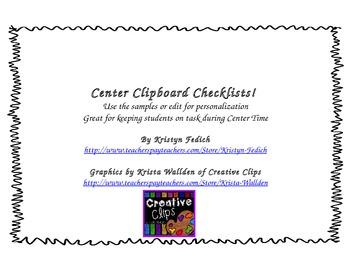 Center Clipboard Checklists