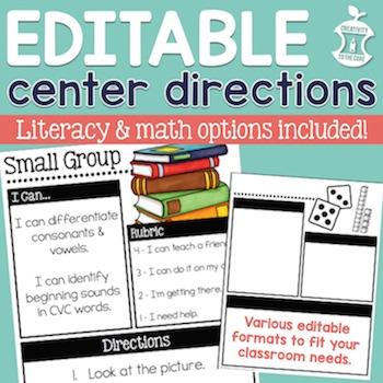 Center Directions EDITABLE