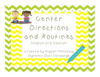 Center Directions and Routines in English and Spanish!
