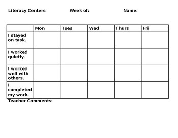 Center Evaluation