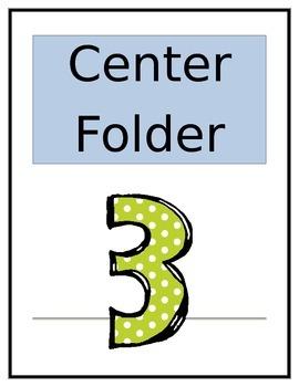 Center Folder Covers