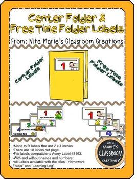 Center Folder Labels and Free Time Folder Labels