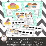Free Choice Centers Kindergarten